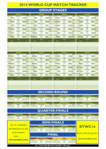 2014 Printable World Cup Match Tracker1